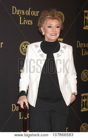 LOS ANGELES - NOV 7:  Peggy McKay at the Days of Our Lives 50th Anniversary Party at the Hollywood Palladium on November 7, 2015 in Los Angeles, CA