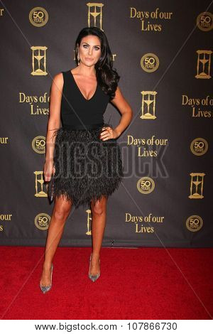 LOS ANGELES - NOV 7:  Nadia Bjorlin, Grant Turnbull at the Days of Our Lives 50th Anniversary Party at the Hollywood Palladium on November 7, 2015 in Los Angeles, CA