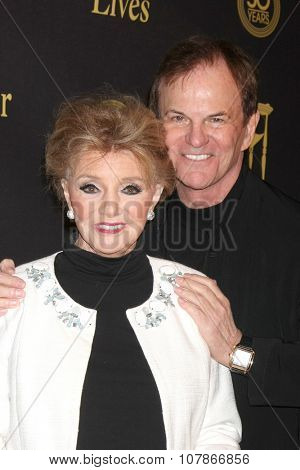 LOS ANGELES - NOV 7:  Peggy McKay, Josh Taylor at the Days of Our Lives 50th Anniversary Party at the Hollywood Palladium on November 7, 2015 in Los Angeles, CA