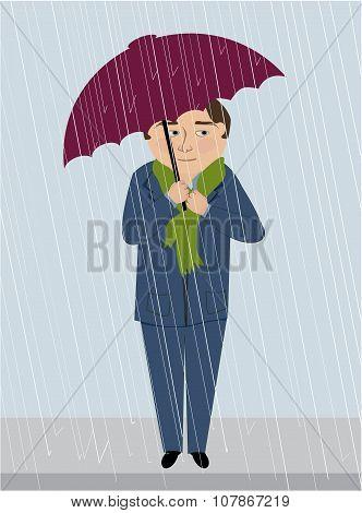 A Man In The Rain.eps
