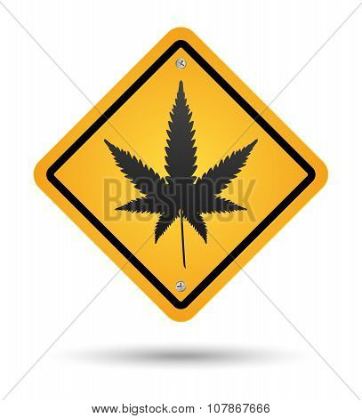 Cannabis Road Sign
