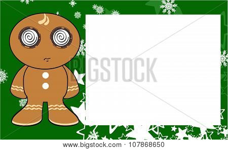 xmas gingerbread kid cartoon expression copyspace