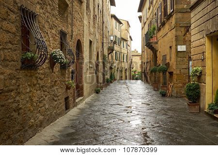 traditional pictorial streets of old italian villages