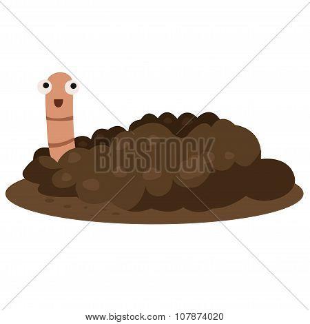 Illustrator of earthworm smile