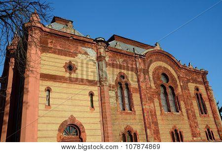 Beautiful Old Jewish Temple (synagogue) In Uzhgorod, Zakarpattia,western Ukraine