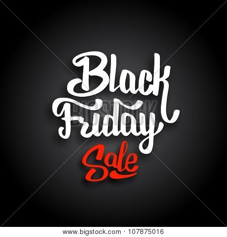 Black Friday Sale. Vector banner template.