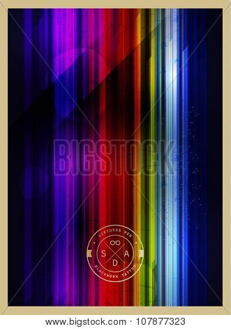 vector abstract retro background. hipster style.