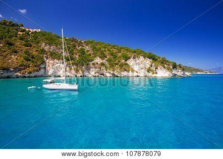 Idyllic coastline of Zakynthos island, Greece