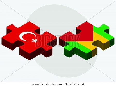 Turkey And Sao Tome And Principe Flags