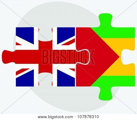 United Kingdom And Sao Tome And Principe Flags
