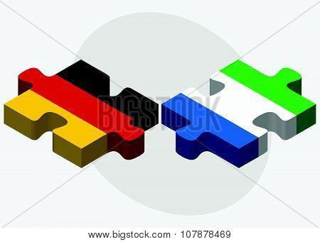 Germany And Sierra Leone Flags