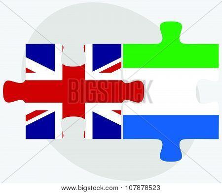 United Kingdom And Sierra Leone Flags