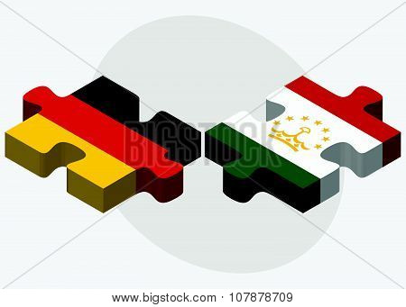 Germany And Tajikistan Flags
