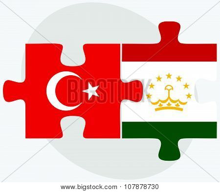 Turkey And Tajikistan Flags