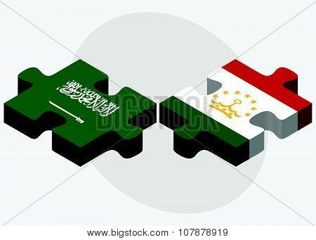 Saudi Arabia And Tajikistan Flags