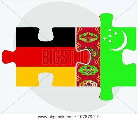 Germany And Turkmenistan Flags