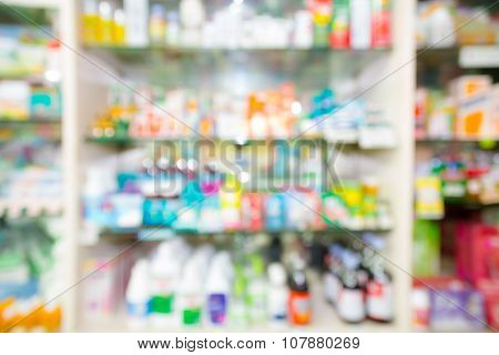 Blurred, Interior Of Drugstore