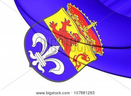 Flag Of Darmstadt (hesse), Germany.