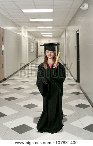 Little Girl Graduate
