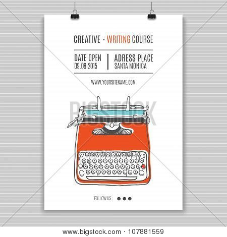 retro typewriter poster