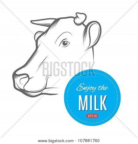 Cow milk logo