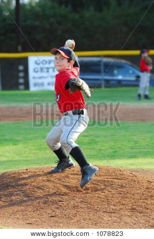 Pony League Baseball Pitcher