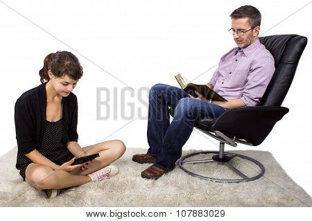 Family Reading Tablet and Book