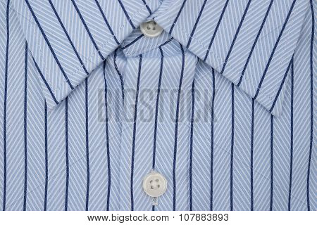 Close Up Of A Mens Shirt With Strips