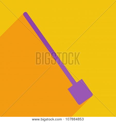 Flat icons modern design with shadow of shovel