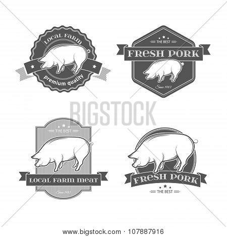 Pork labels