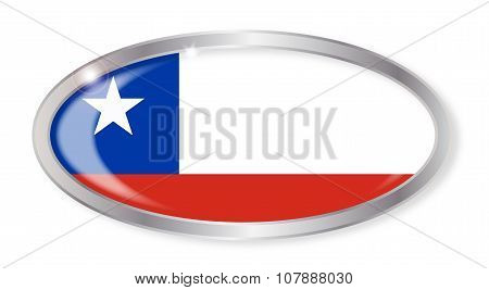 Chile Flag Oval Button