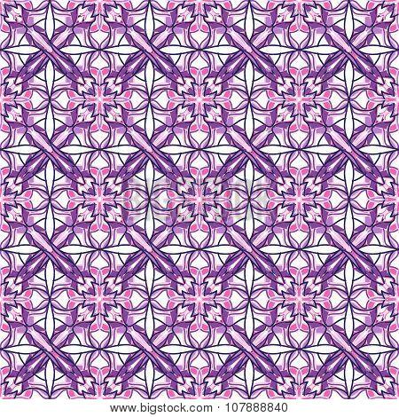 Pattern With Decorative Symmetric Ornament