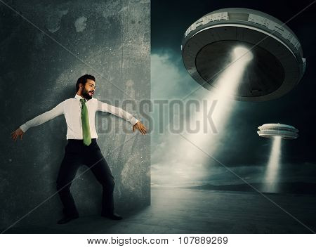 Frightened by UFO