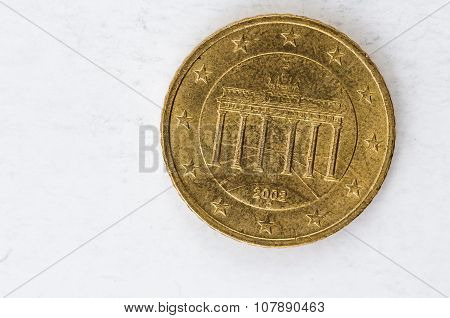 20 Euro Cent Coin With German Backside Used Look