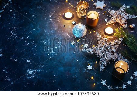 Christmas Background With Copyspace