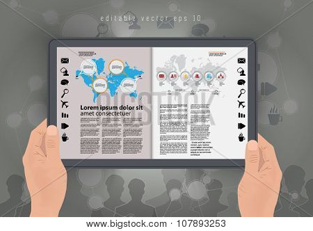 Vector of e-magazine layout