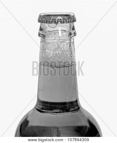 Black And White Beer Bottle