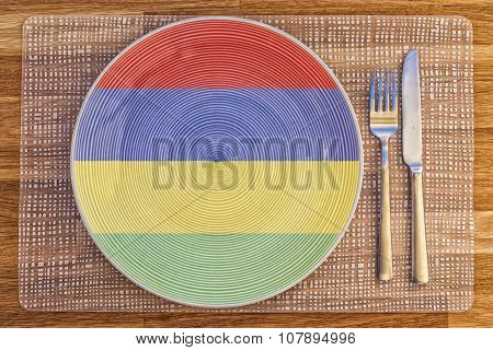 Dinner Plate For Mauritius