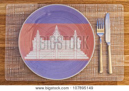 Dinner Plate For Cambodia