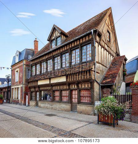 Etretat commune traditional architecture, France