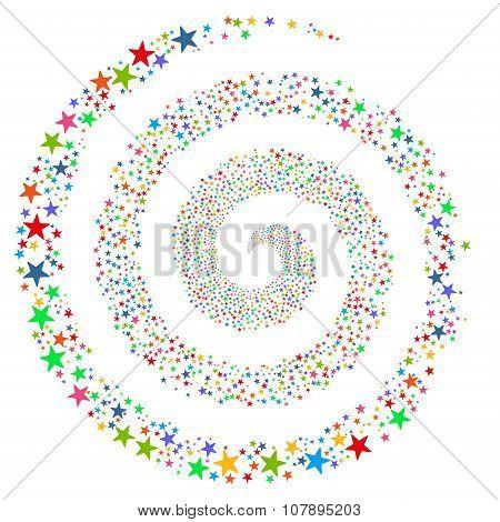 Fireworks Star Spiral