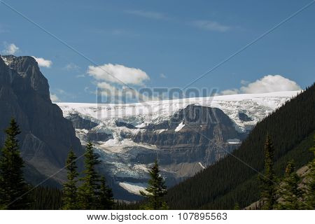Glacier in Canadian rockies