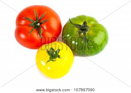 Different colors tomatos, Solanum lycopersicum