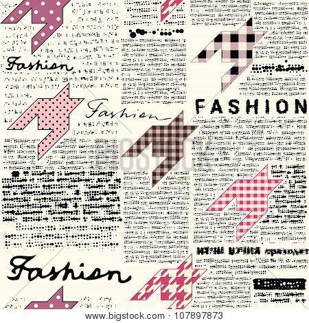 Newspaper fashion background