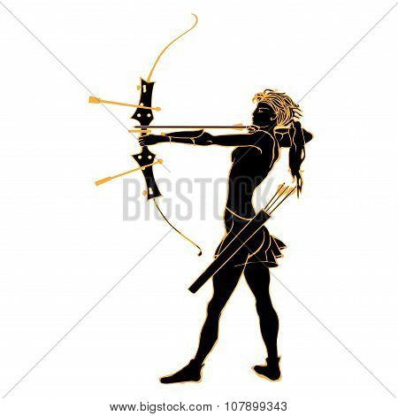 Sports archery silhouettes