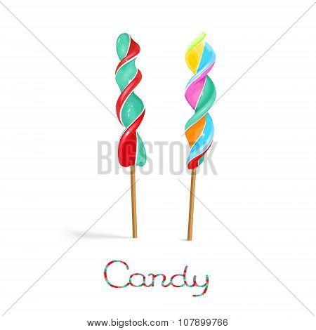 Corkscrew Lollipop On Stirck