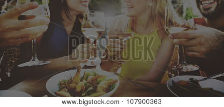 Friend Friendship Dining Celebration Hanging out Concept