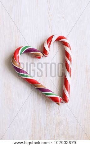 Christmas Candy Cane Heart