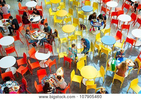 Food Court At Shopping Mall