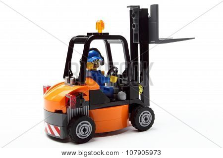 Toy Man On Forklift Truck A